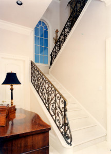 Traditional Scrolled railing with oxidized bronze finish