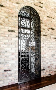 Private Residence    Forged Interior Double Gate